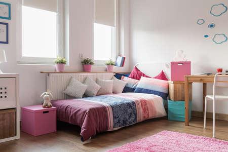 Rose accessories in cozy teen girl room