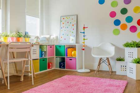 Idea for colorful designed unisex kids room