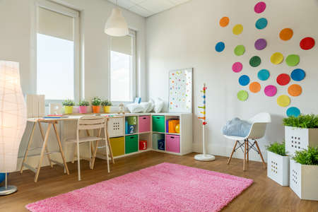 Multicolor designed playing room for children