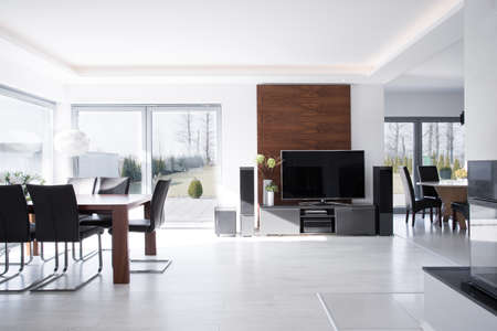 Sunny expensive house in contemporary desing