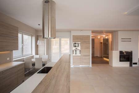 Foto de Photo of light and spacious stylish villa interior - Imagen libre de derechos