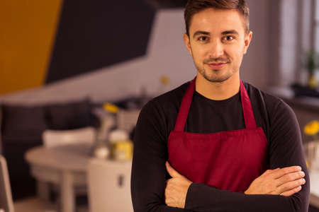 Picture of man working in local eating place