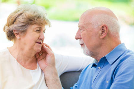 Photo for Elder couple taking care of each other - Royalty Free Image