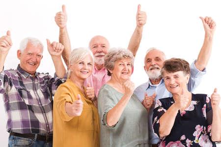 Photo pour Senior people leading positive lifestyle - image libre de droit