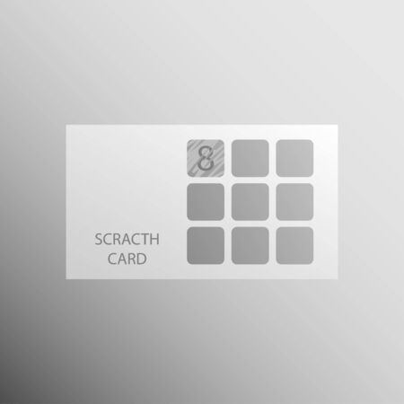 Illustration for Scratch card mockup template, vector for web, print. - Royalty Free Image
