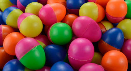 Colorful plastic eggs