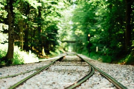 Railways tracks leading to an unknown destination.