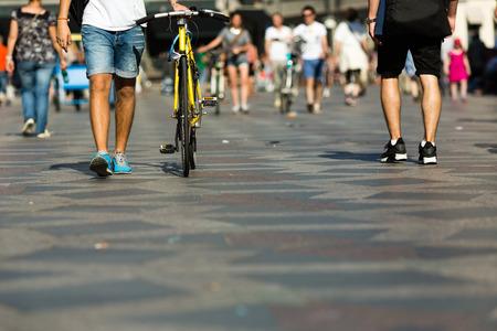 Photo for Pedestrian area in the city centre of Copenhagen, Denmark. - Royalty Free Image