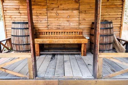 Wooden bench in Tel-Aviv