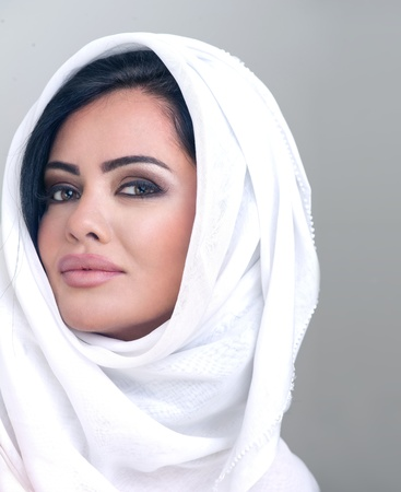 sensual portrait of a fresh beauty arabian girl with hijab