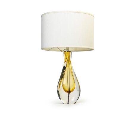 Photo for Elegant table lamp isolated on white background - Royalty Free Image
