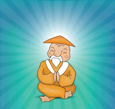 Illustration pour Zen Master Meditating  - image libre de droit