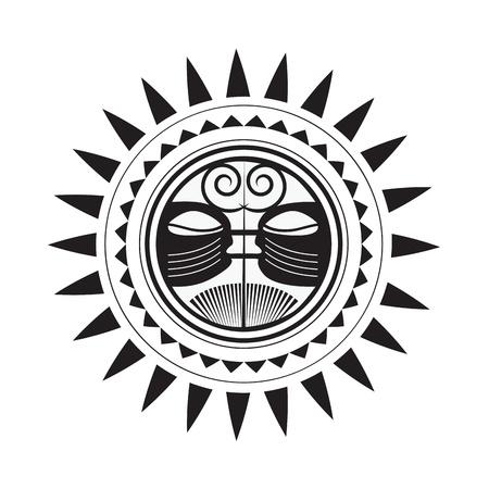 Beautiful Polynesian style tattoo