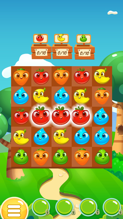 Illustration pour Match 3 Game Fruits / Game Reskin Asset - image libre de droit