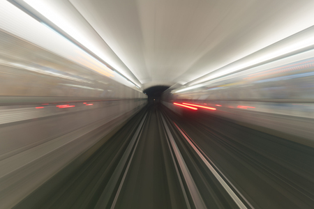 Photo for view from the cab subway operator long exposure - Royalty Free Image