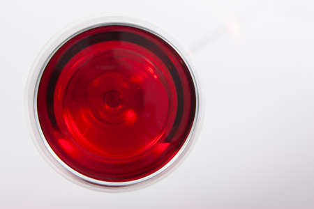 Photo for Glass of red wine with shadow.Top view . Close-up - Royalty Free Image