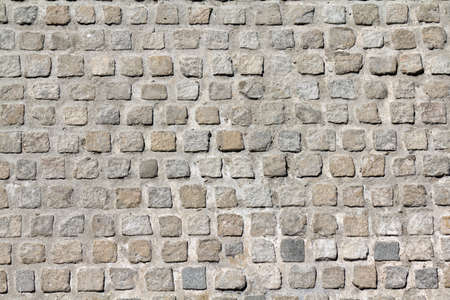 Cobblestone road background pattern