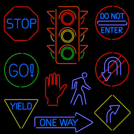 Neon Traffic Signs