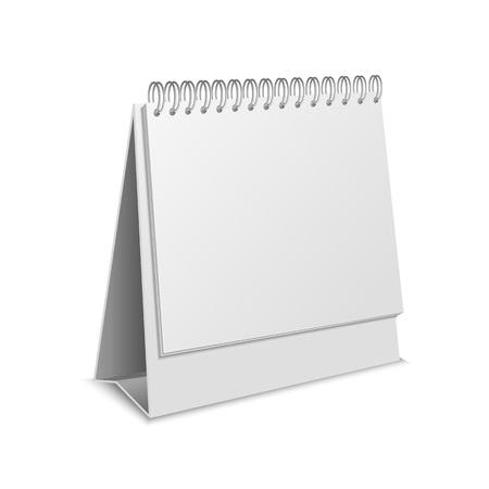 Illustration pour Realistic Detailed 3d Empty Mockup Template Paper Calendar Blank . Vector illustration of Mock Up for Business Appointment - image libre de droit