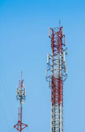 antennas with a blue sky