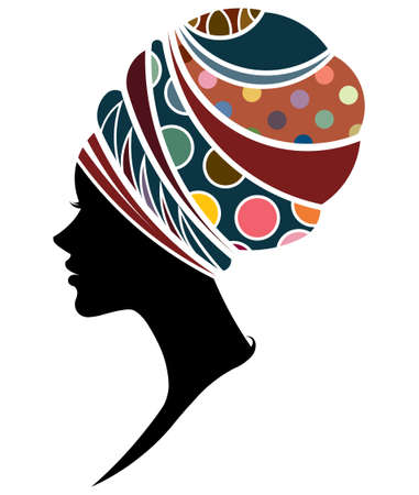 Illustration pour illustration vector of African women silhouette fashion models, beautiful black women on white background - image libre de droit