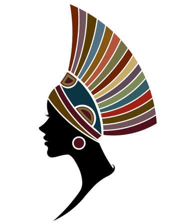 Ilustración de illustration vector of African women silhouette fashion models, beautiful black women on white background - Imagen libre de derechos