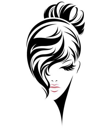 Vector Of Illustration Of Women Bun Hair Id94933856 Royalty