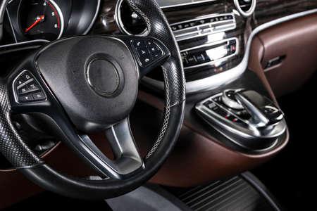 Modern Luxury car inside  Interior of prestige car