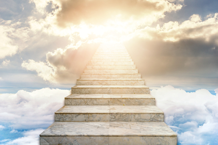 Photo for Stairway to heaven. Concept Religion background - Royalty Free Image