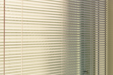 Photo for aluminum venetian blinds with sunlight coming from a window. decoration interior - Royalty Free Image