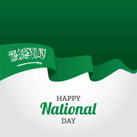 Happy National Day of Saudi Arabia Vector Illustration