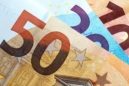 Photo pour Close up of colorful euro money. Euro money background. - image libre de droit