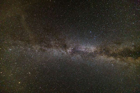 Photo for Night landscape of milkyway with stars covered sky . - Royalty Free Image