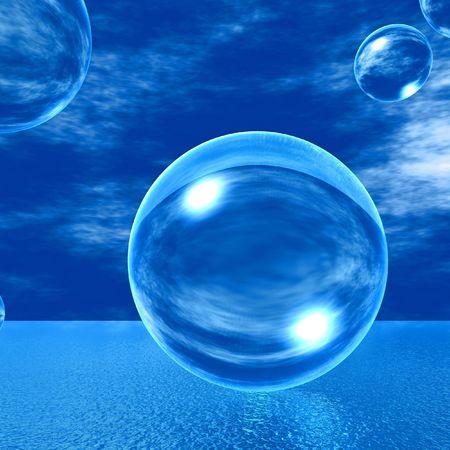 Blasen aus Glas