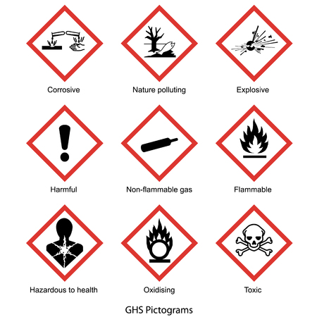 GHS pictogram collection vector isolated on white background