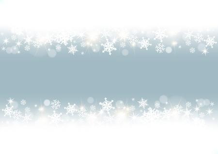 white snowflakes frame