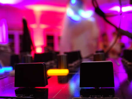 DJ Mixer at Wedding Party