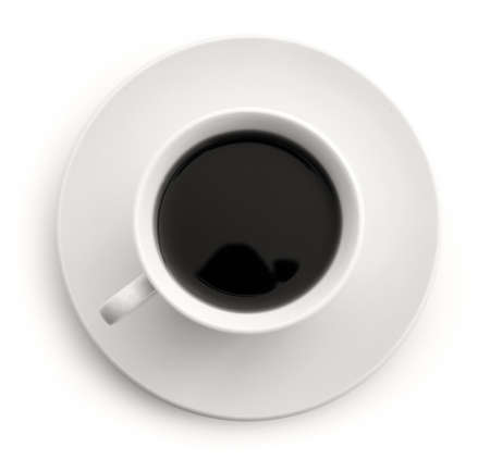 Icolated coffee cup
