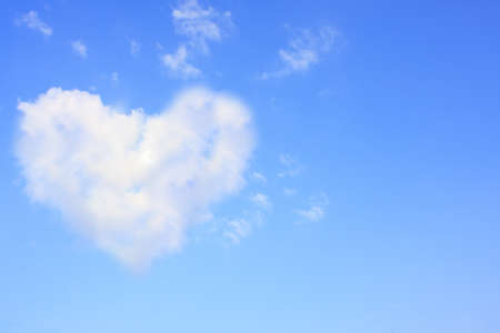 Photo for Heart in the sky could be used as a background. - Royalty Free Image