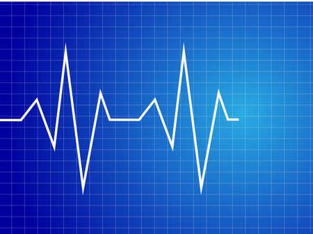 Abstract heart beats cardiogram illustration -