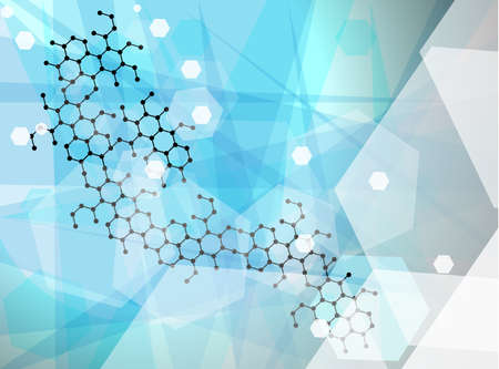 Abstract molecules wallpaper, medical background