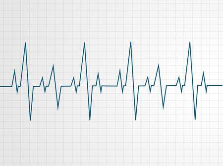 Abstract heart beats cardiogram illustration - vector