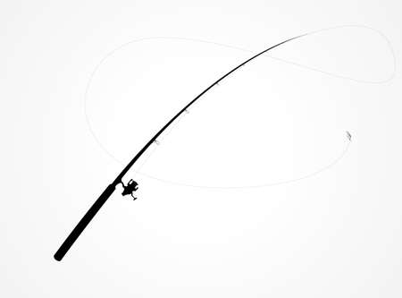 isolated fishing rod label