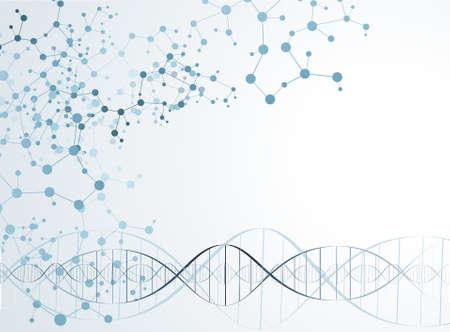 DNA molecule structure background. vector illustration