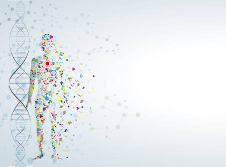 Molecule body concept of the human DNA