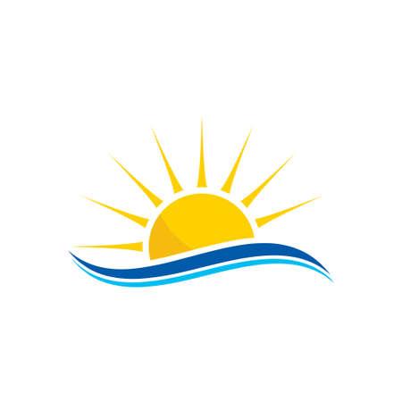 Illustration for abstract creative sun logo design, Sunburst icon - Royalty Free Image