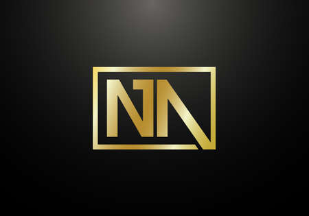 Ilustración de Initial Monogram Letter N A Logo Design Vector Template. N A Letter Logo Design - Imagen libre de derechos