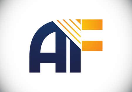 Ilustración de A F letter sign symbol. Initial Letter A F Logo Design Vector Template. Monogram logo - Imagen libre de derechos