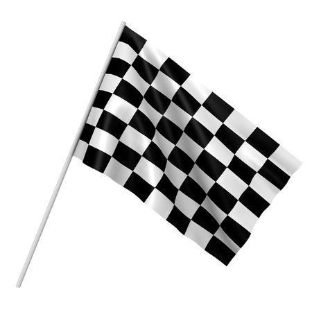 A checkered race flag - a 3d image