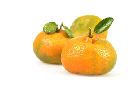 Naturally, not chemically ripened tangerines that were freshly picked.